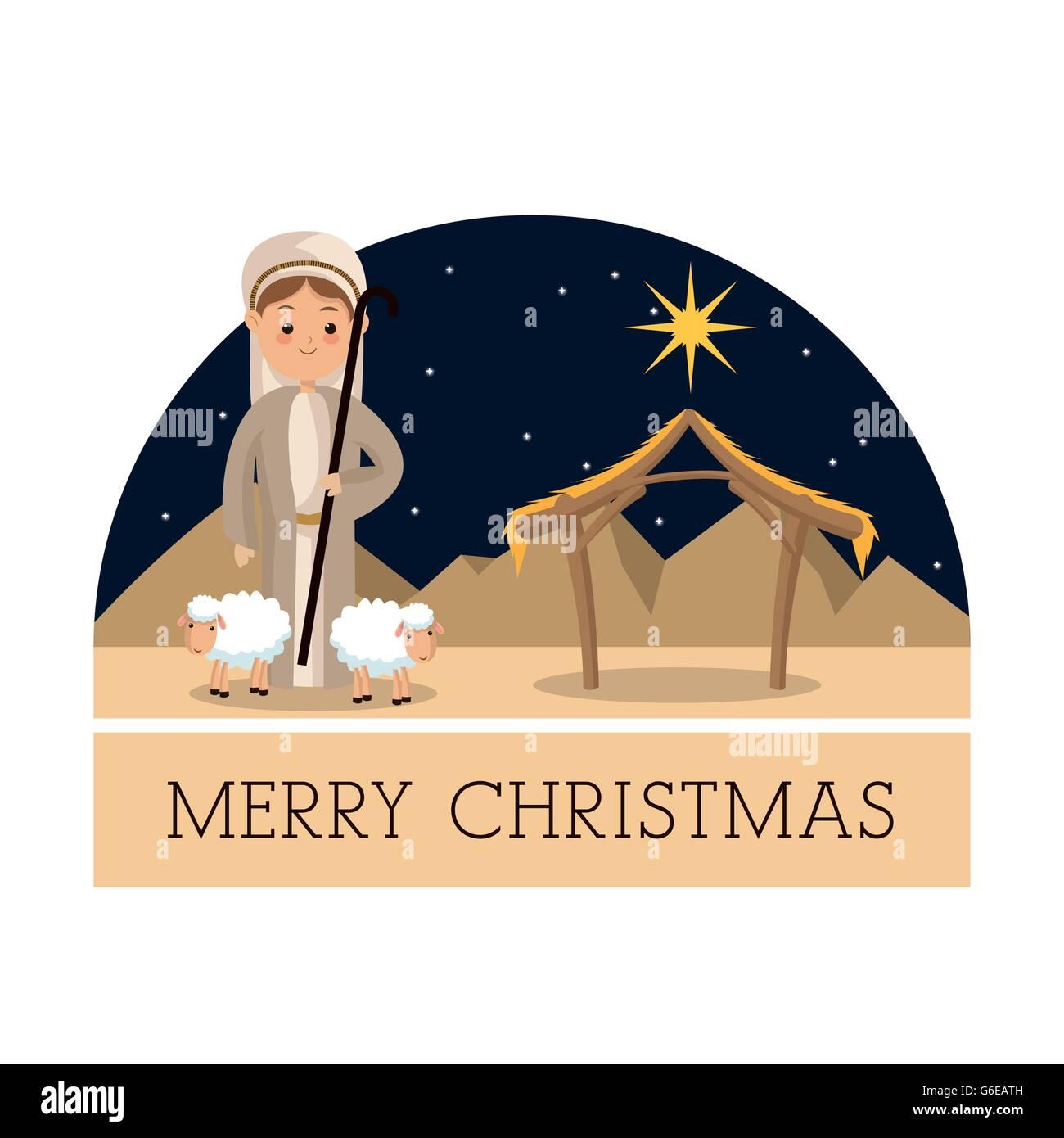 Schäfer-Symbol. Frohe Weihnachten-Design. Vektorgrafik Vektor ...