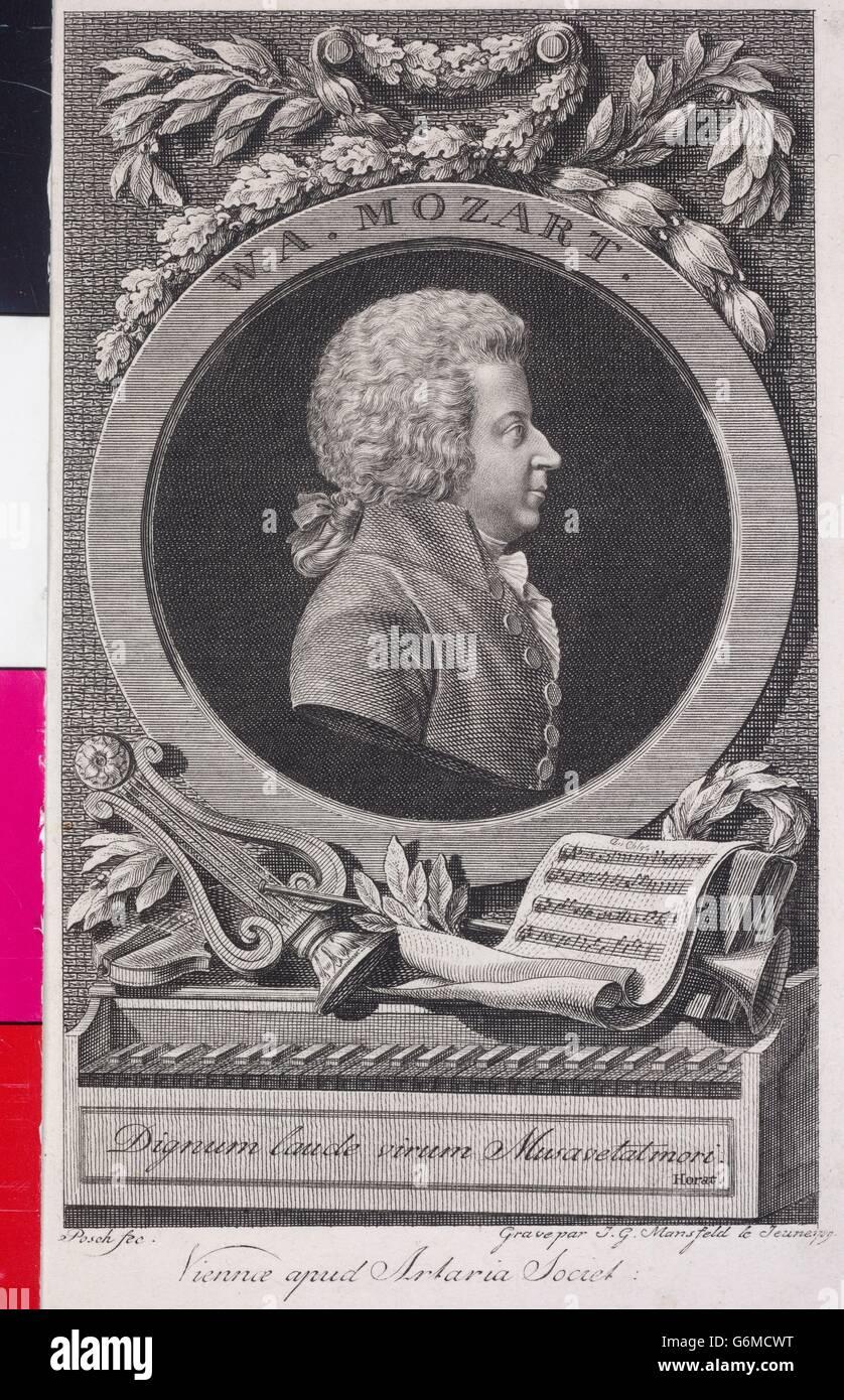 Mozart, Wolfgang Amadeus Stockbild