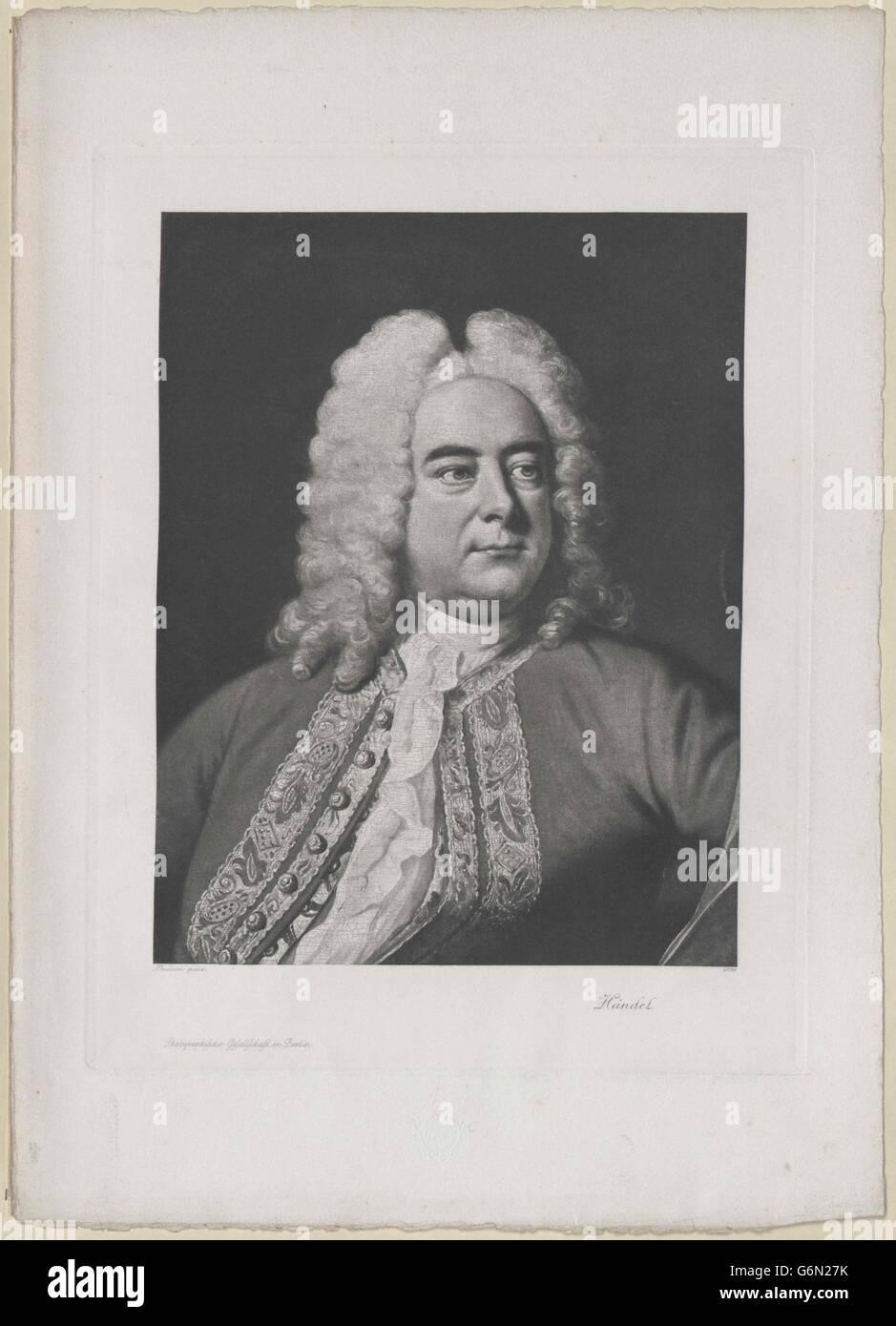 Händel, Georg Friedrich Stockbild