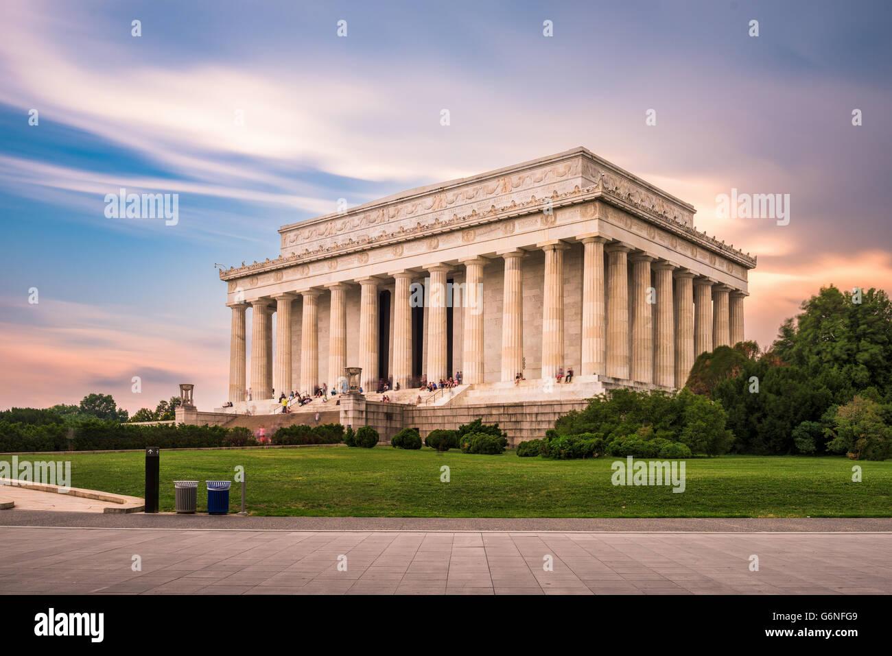 Lincoln Memorial in Washington DC, USA. Stockbild