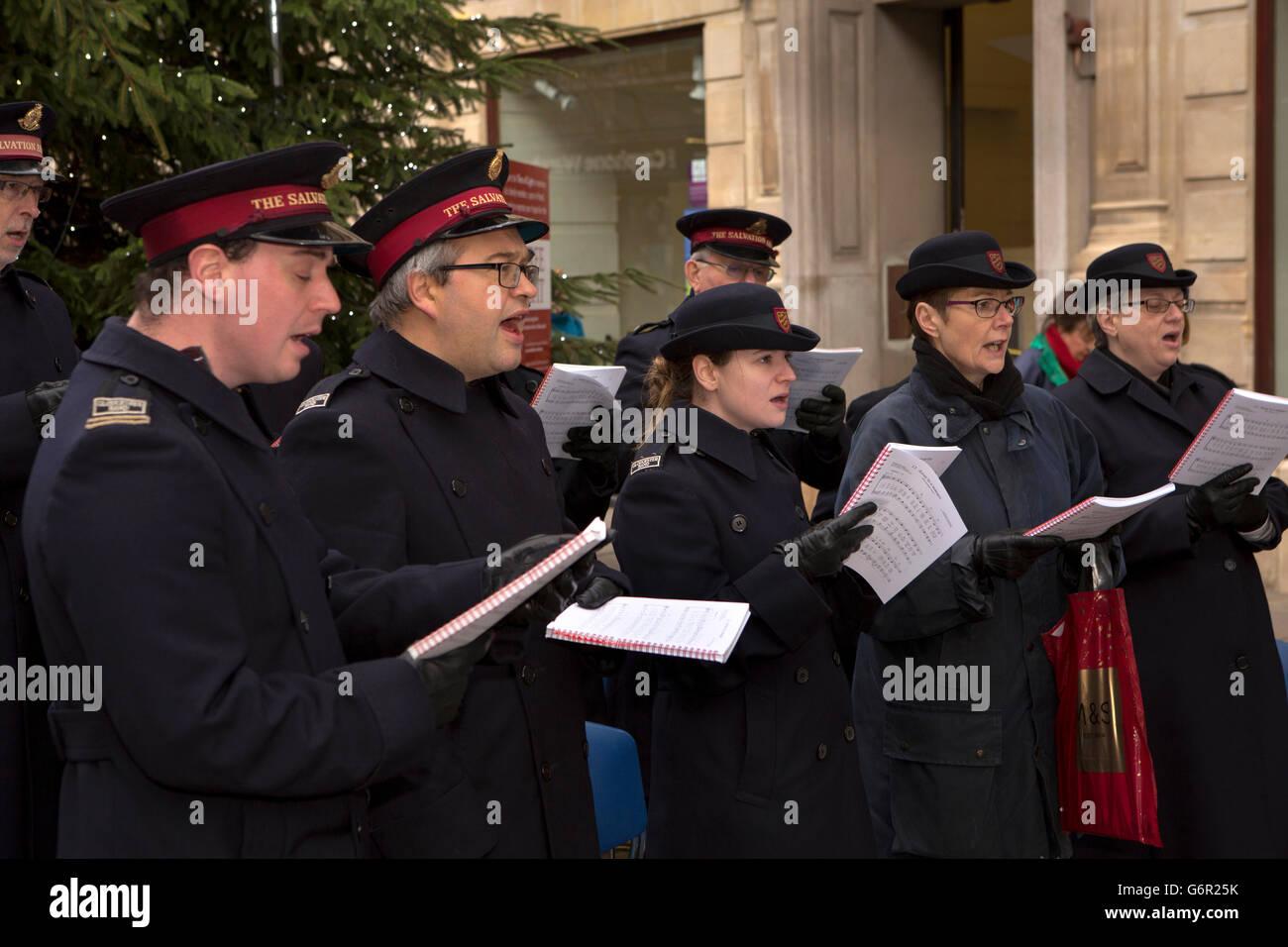Chöre Singen Weihnachtslieder.Uk Gloucestershire Gloucester Eastgate Street Weihnachten