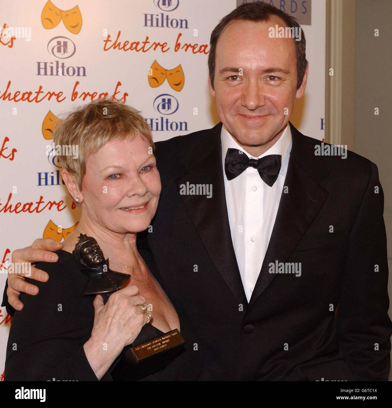 Dench & spacigen Olivier Awards 2004 Stockfoto