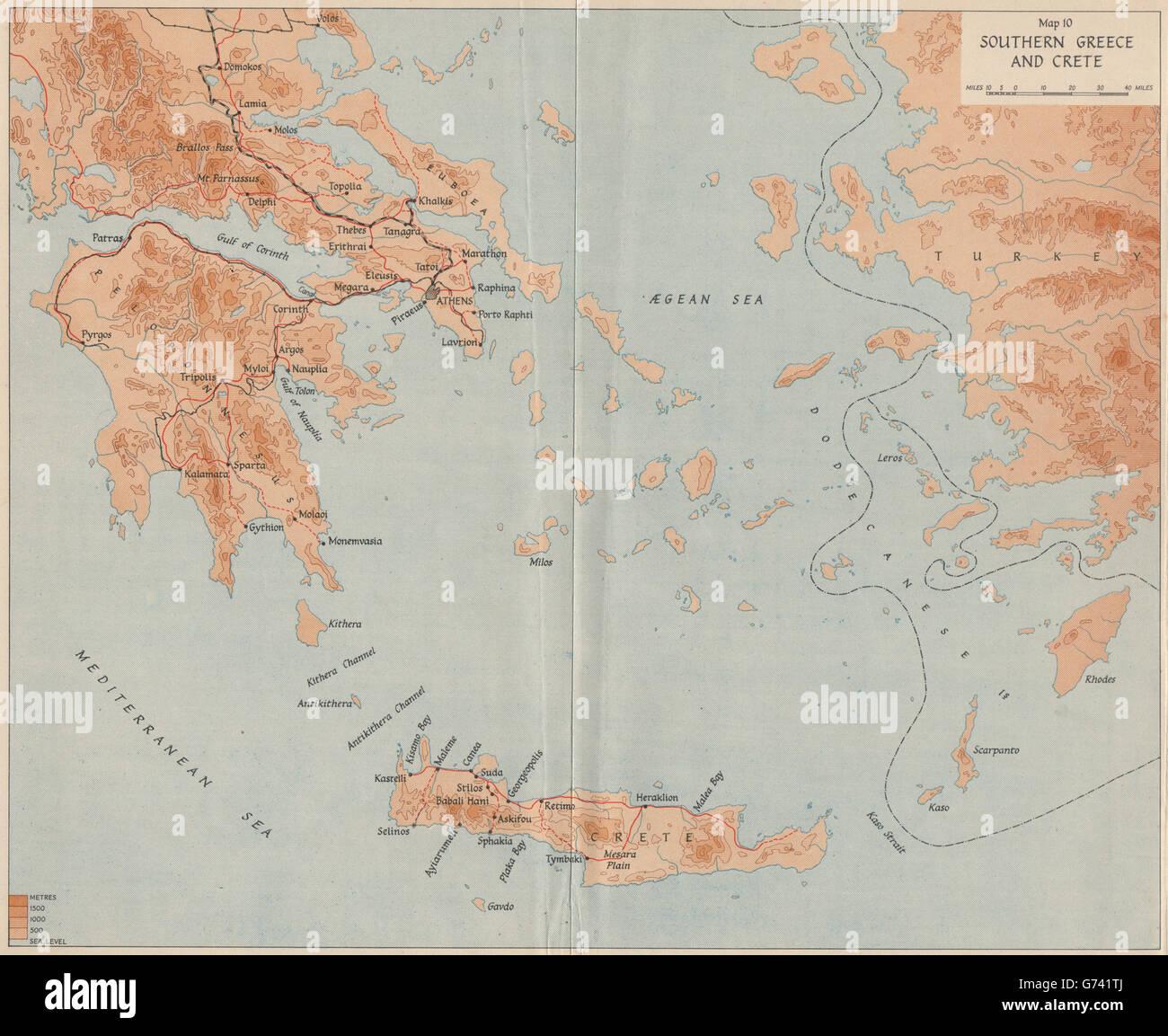 Griechenland Karte Kreta.Betrieb Marita 1941 Sud Griechenland Und Kreta 2