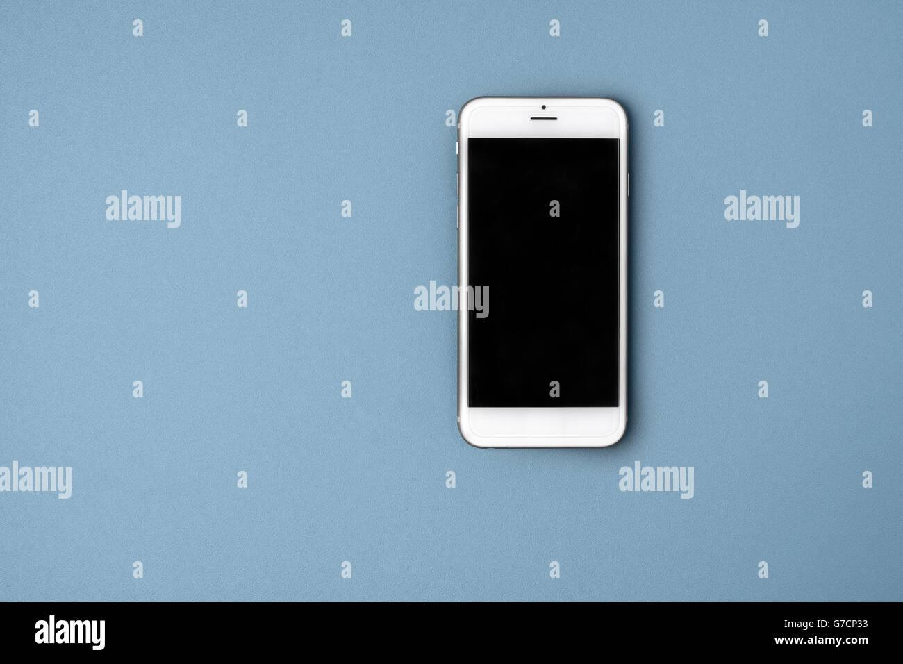 Leere Smartphone auf Hintergrund Stockbild
