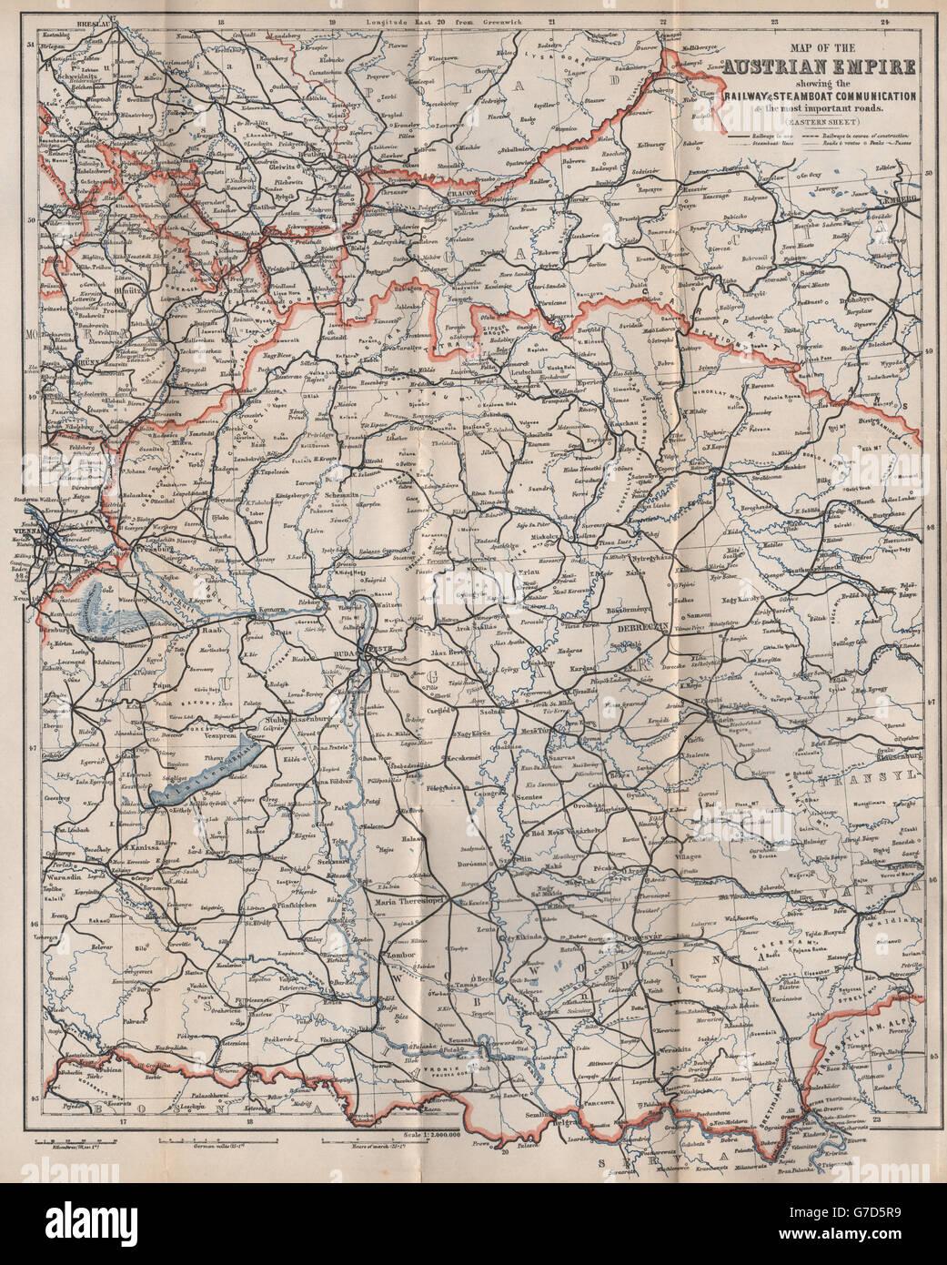 Galizien Karte.Ungarn Galizien österreichischen Reich Osten Blatt Straßen