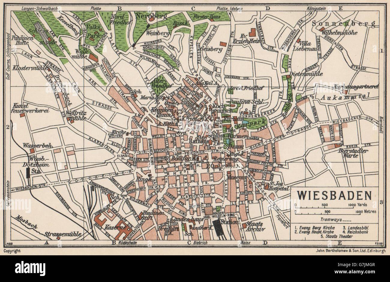Wiesbaden Karte Deutschland