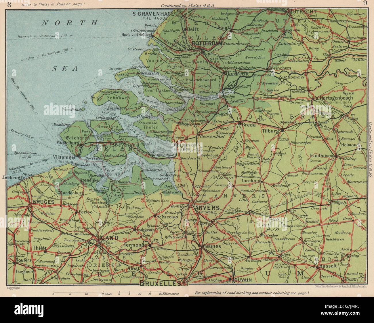 Zeeland Karte Niederlande.Nord Süd Niederlande Belgien Rotterdam Zeeland Brabant Flandern