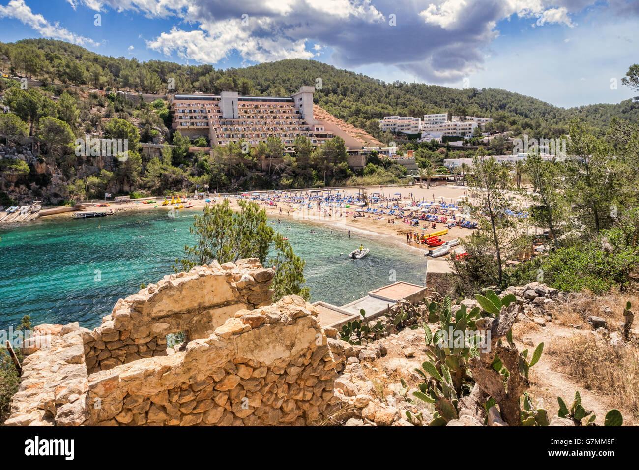 Puerto de San Miguel, Ibiza, Spanien. Stockbild