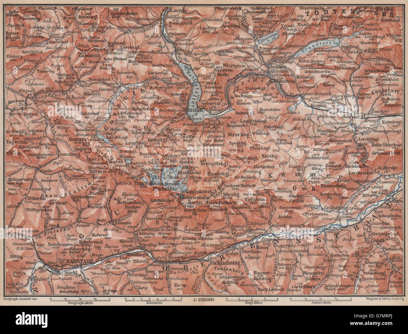 Dachstein Karte.Süd Salzkammergut Bad Aussee Dachstein Schladming Mitterndorf Karte