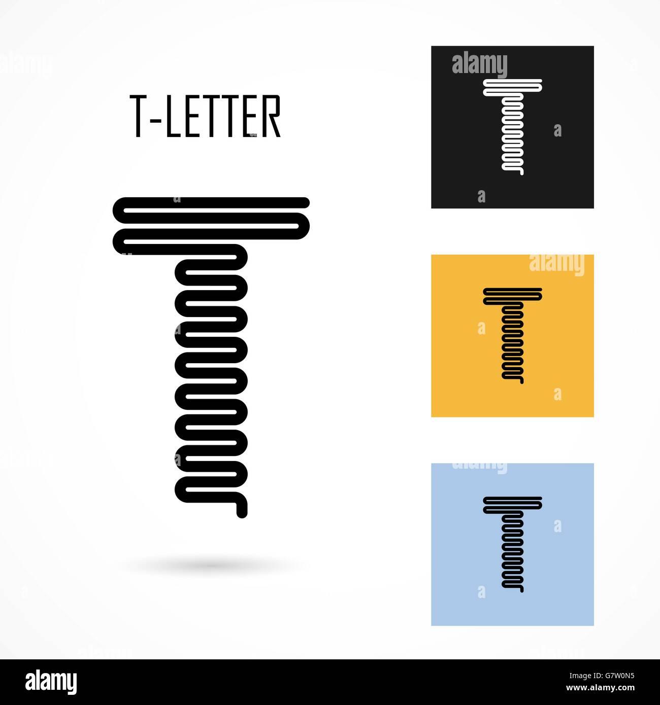 Kreative T-Symbol abstrakte Logo Design Vektor Briefvorlage ...