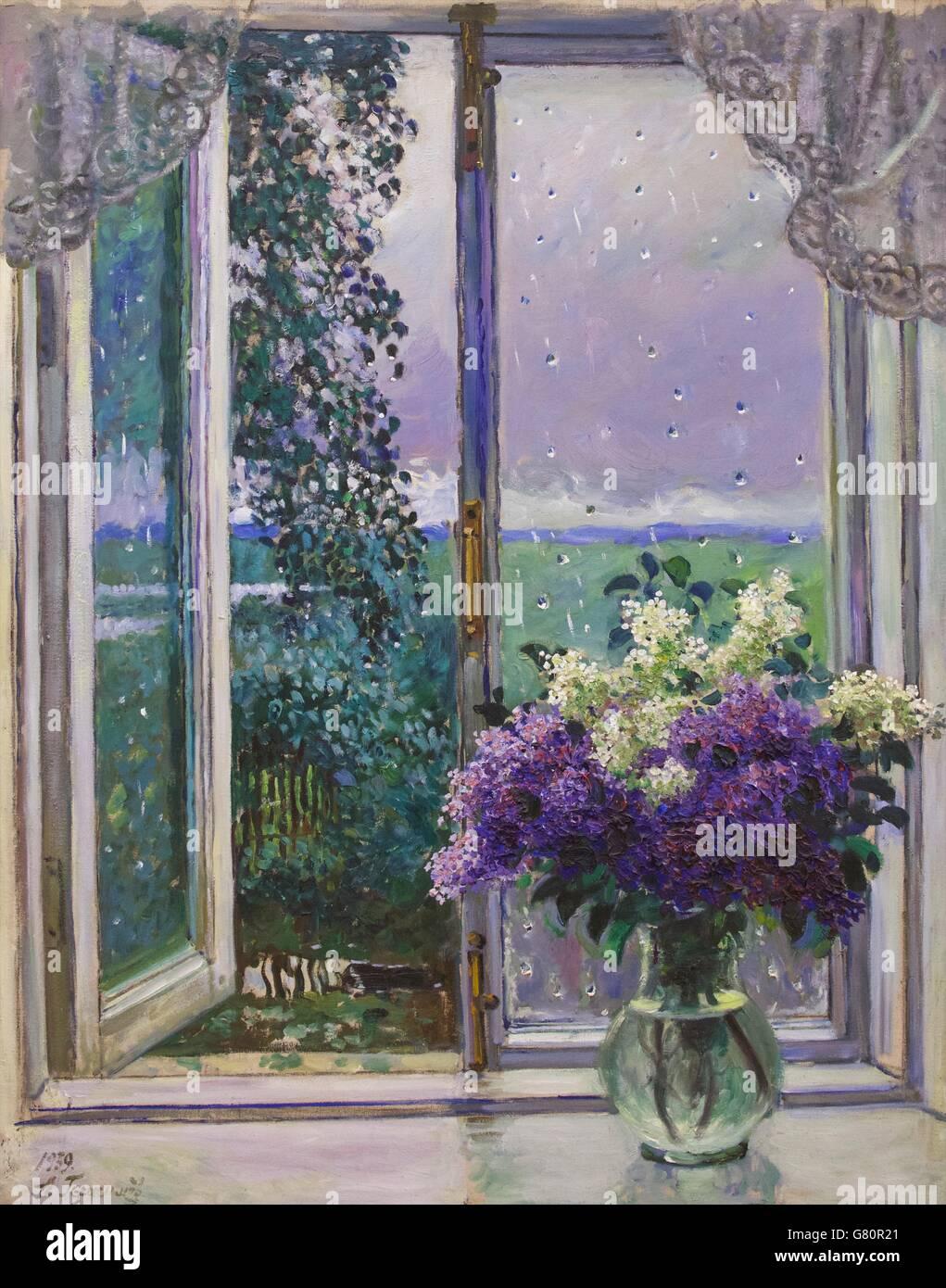 Mittag, warmen Regen, von Alexander Gerasimov, 1939, Russisches Museum, St. Petersburg, Russland Stockbild