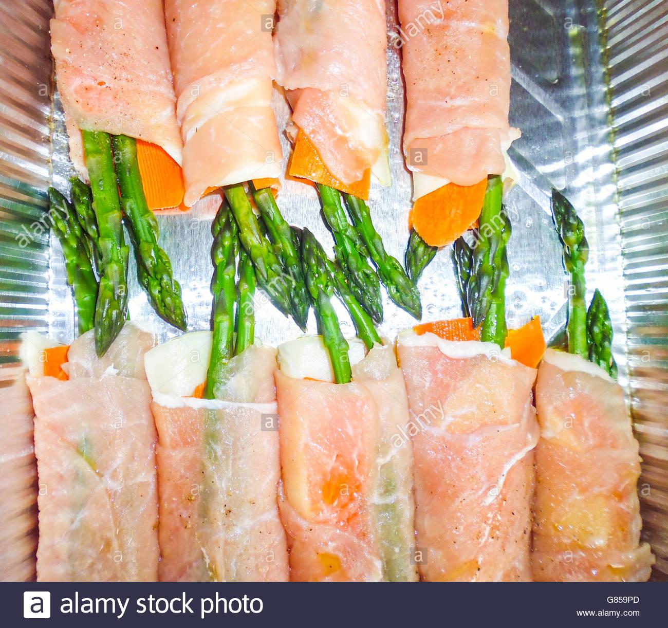 Original Fingerfood der feinen italienischen Küche Stockfoto, Bild ...