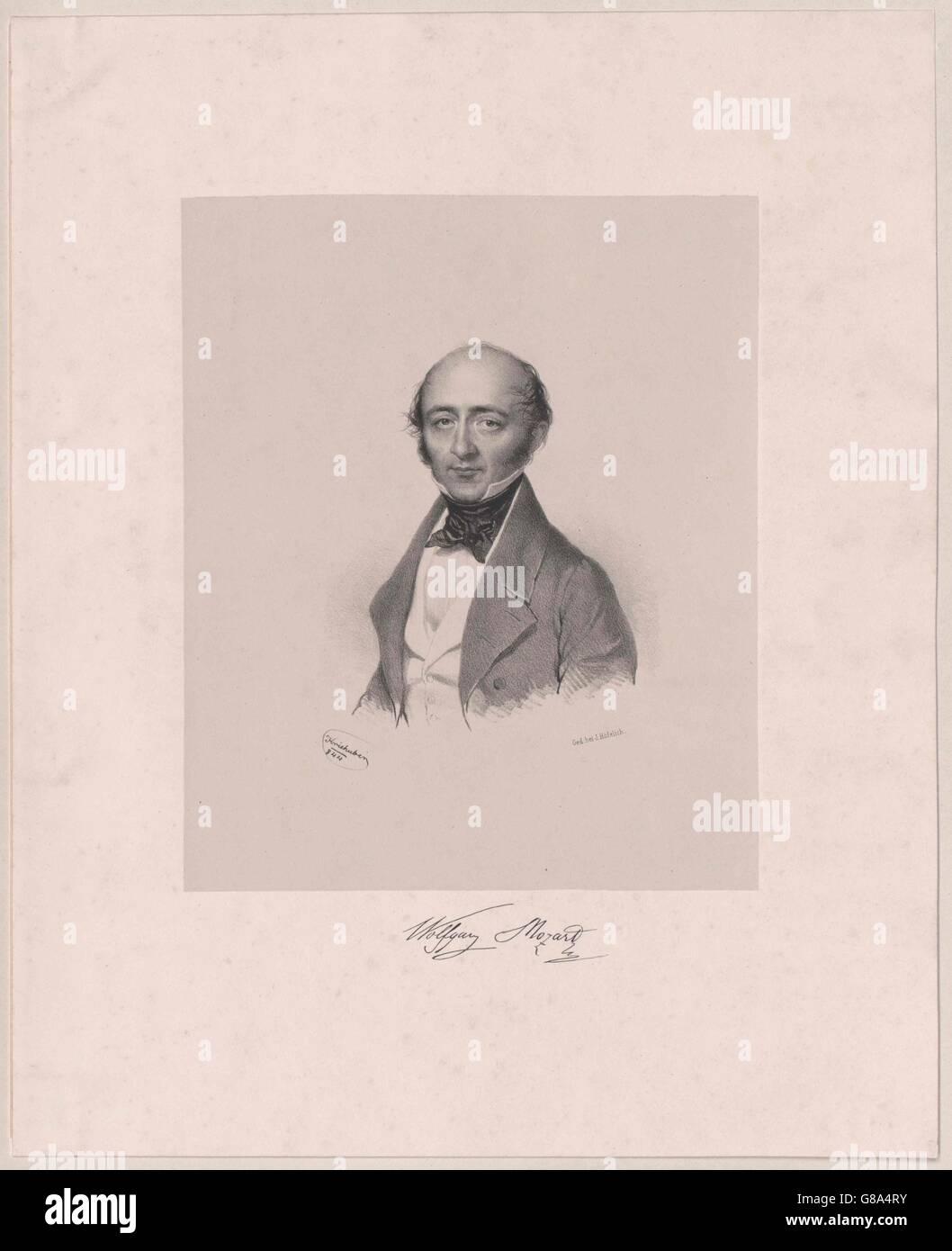 Mozart, Wolfgang Amadeus (1791-1844) Stockbild