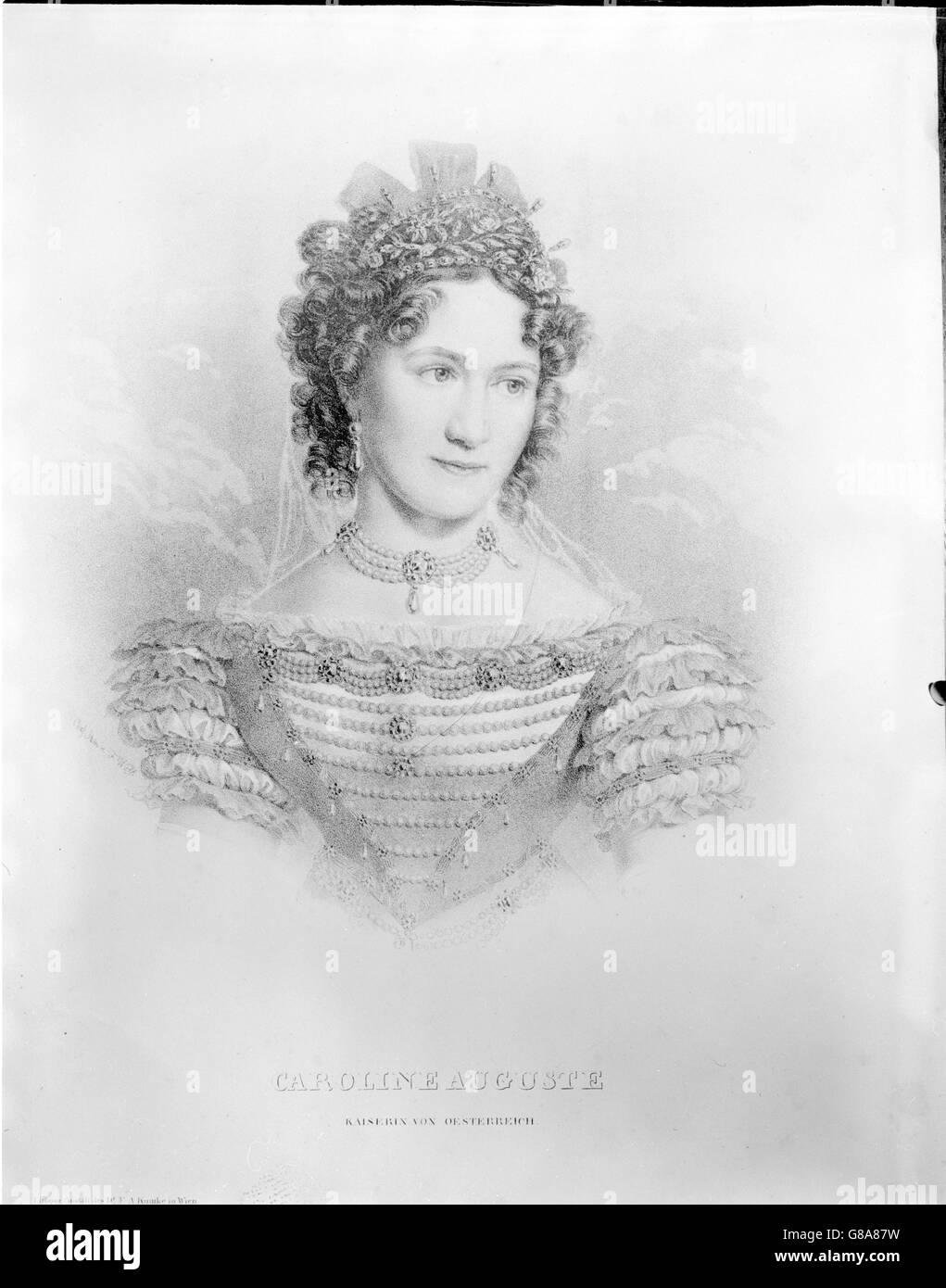 Karoline, Prinzessin von Bayern Stockbild