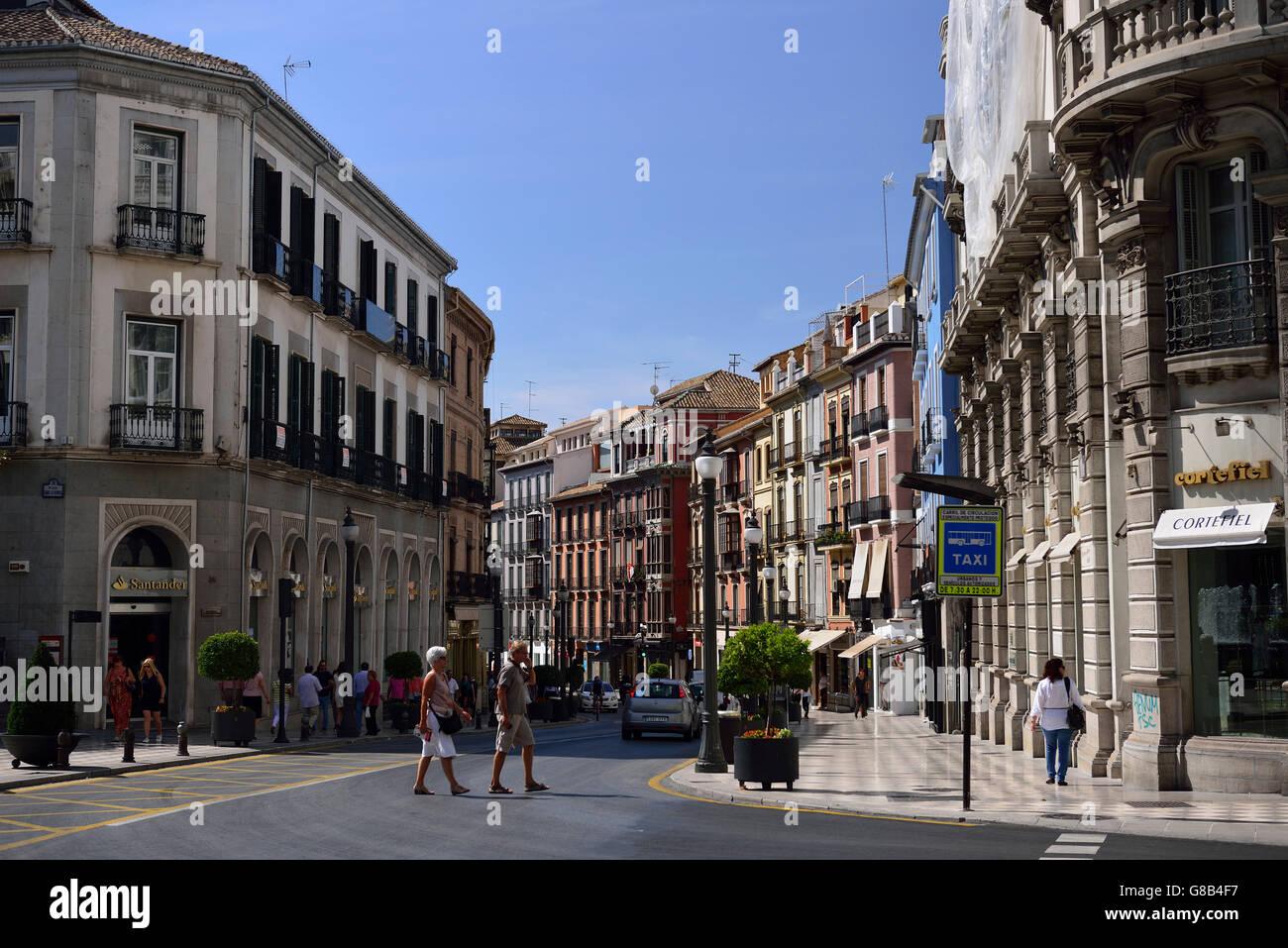 Calle Reyes Catolicos Granada Andalusien Spanien Stockfoto Bild