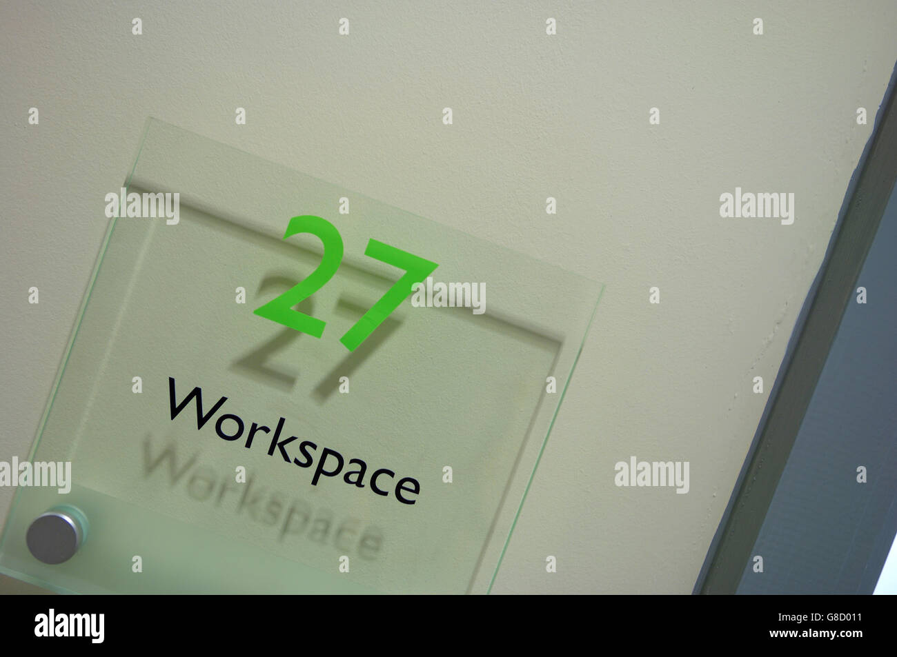 Arbeitsbereich kleine Geschäftsräume. England Stockfoto