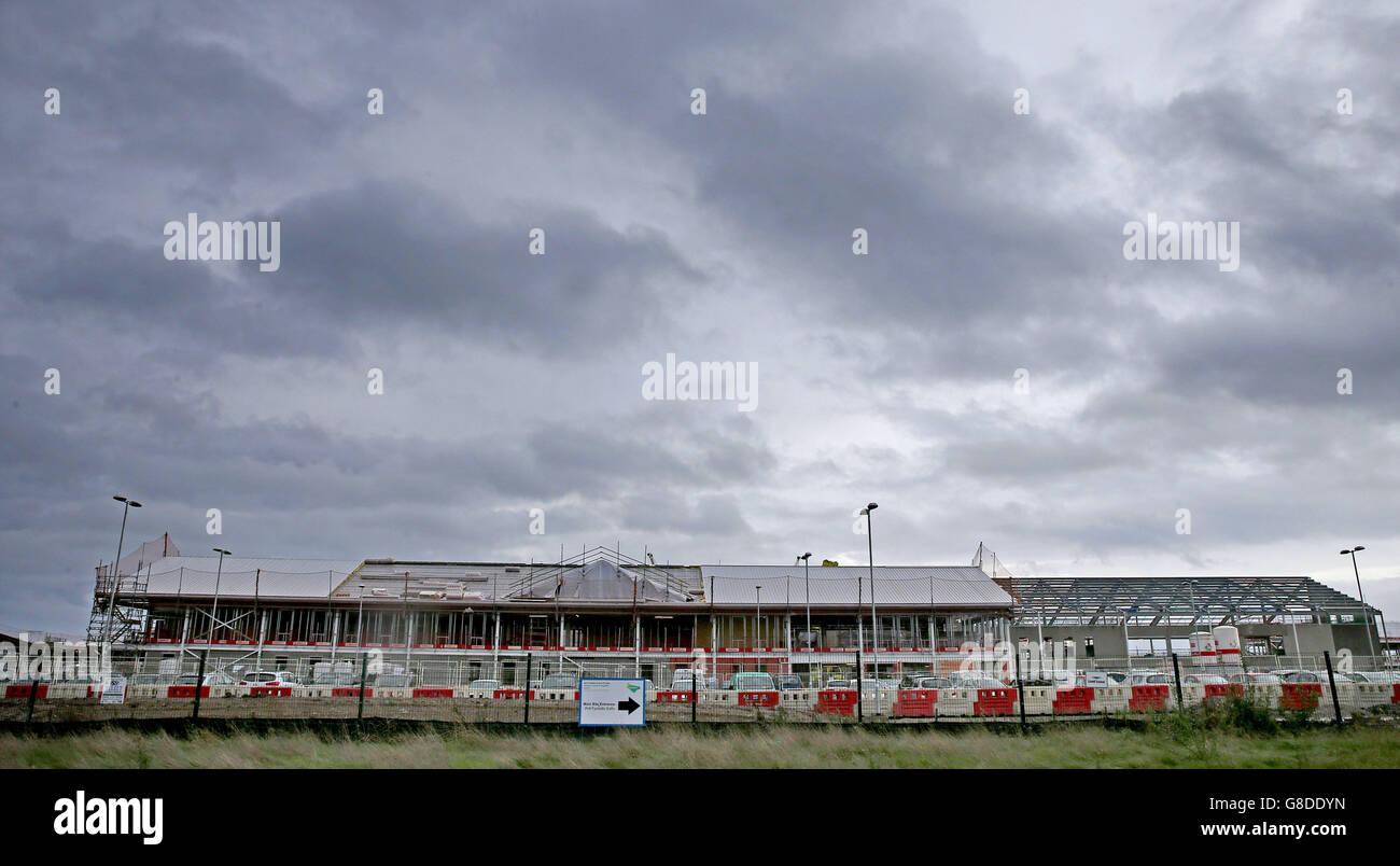 Die Bauarbeiten an der North Wales Gefängnis in Wrexham Industrial ...