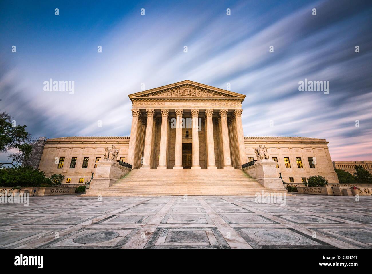 United States Supreme Court Gebäude in Washington DC, USA. Stockbild