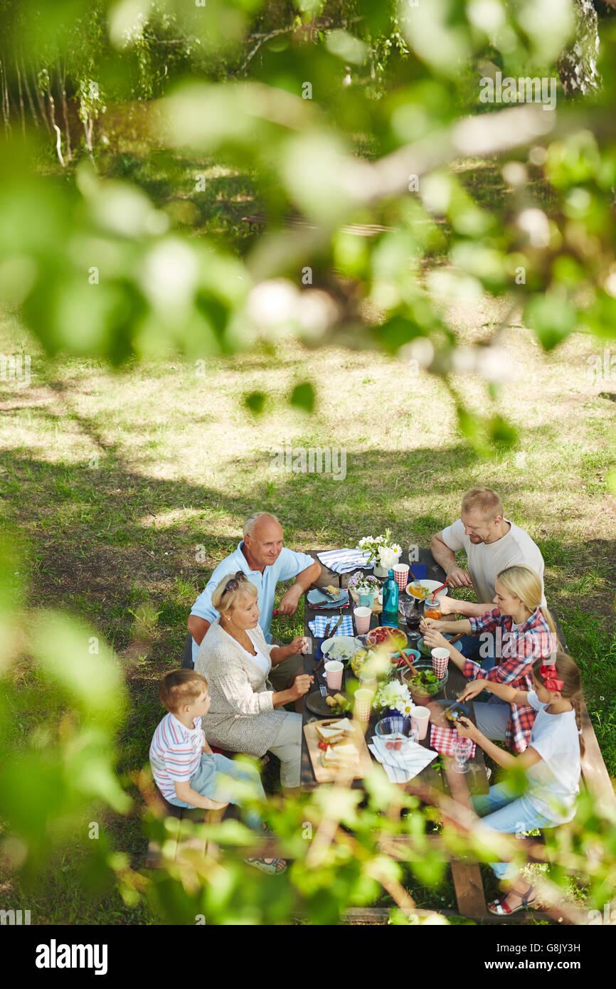 Familientreffen Stockbild