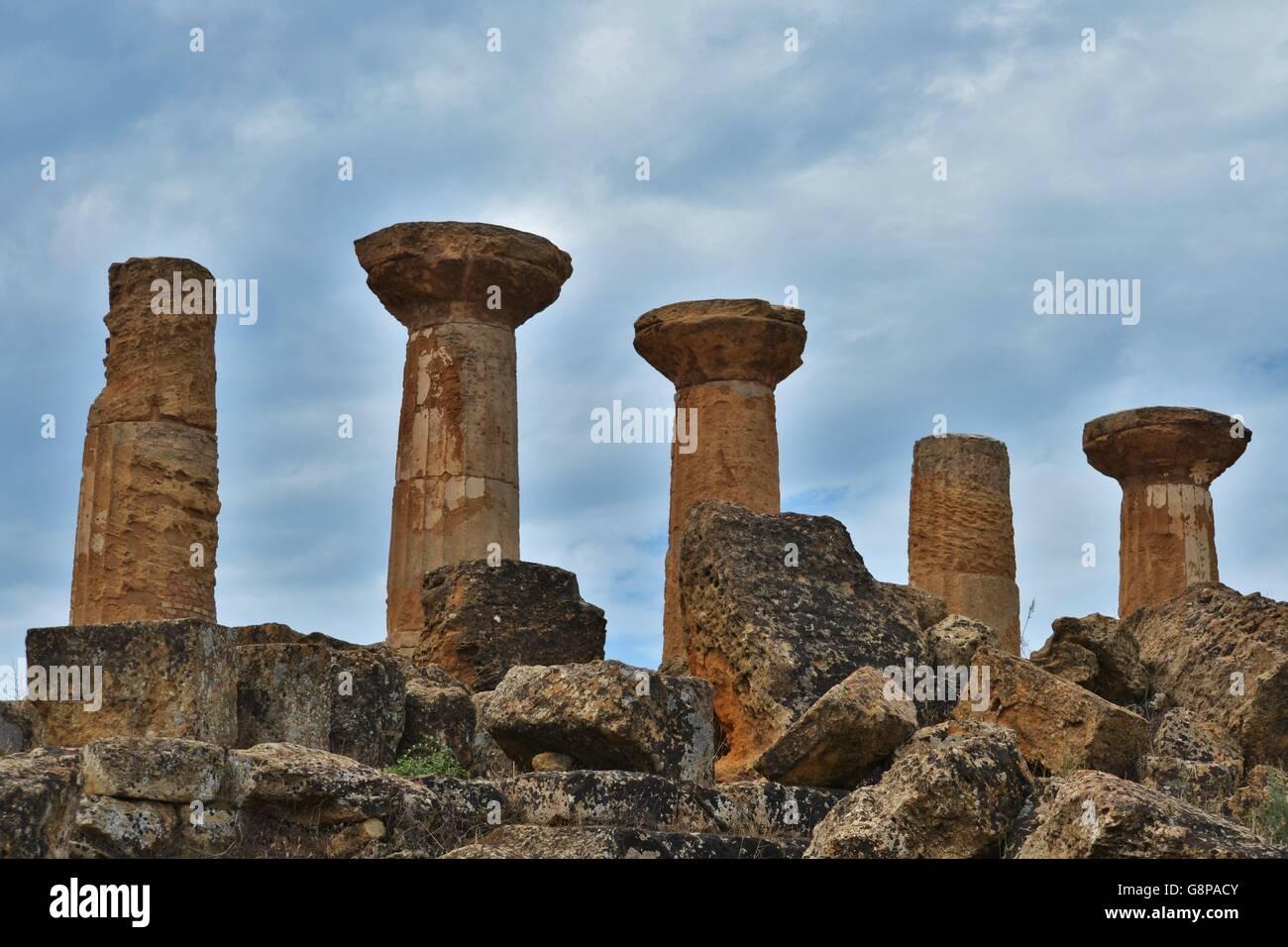 Agrigento, Nella Valle dei tempi Stockbild