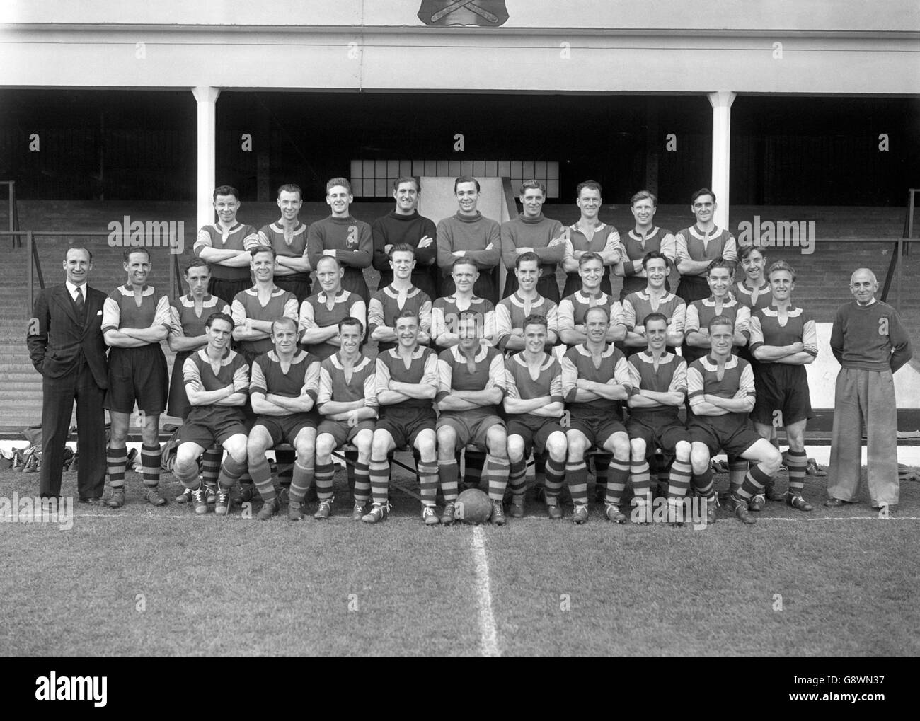 West Ham United 1950 Stockbild