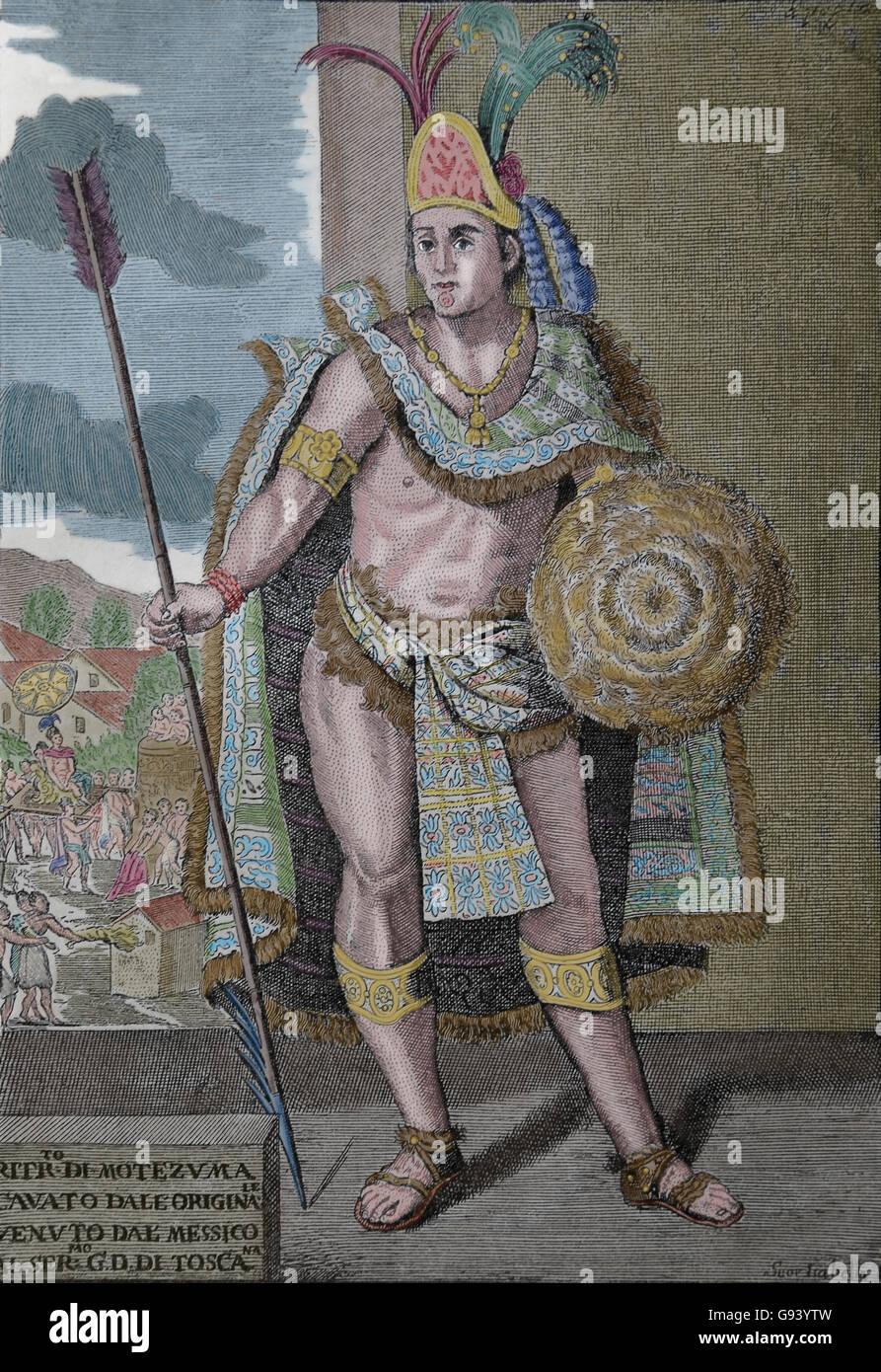 Moctezuma Ii 1466 ð 1520 Herrscher Von Tenochtitlán Mesoamerika