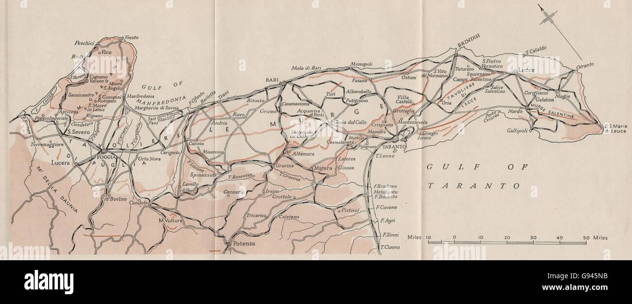 Apulien Karte Italien.Italien Apulien Region Ww2 Königliche Marine Intelligence Karte