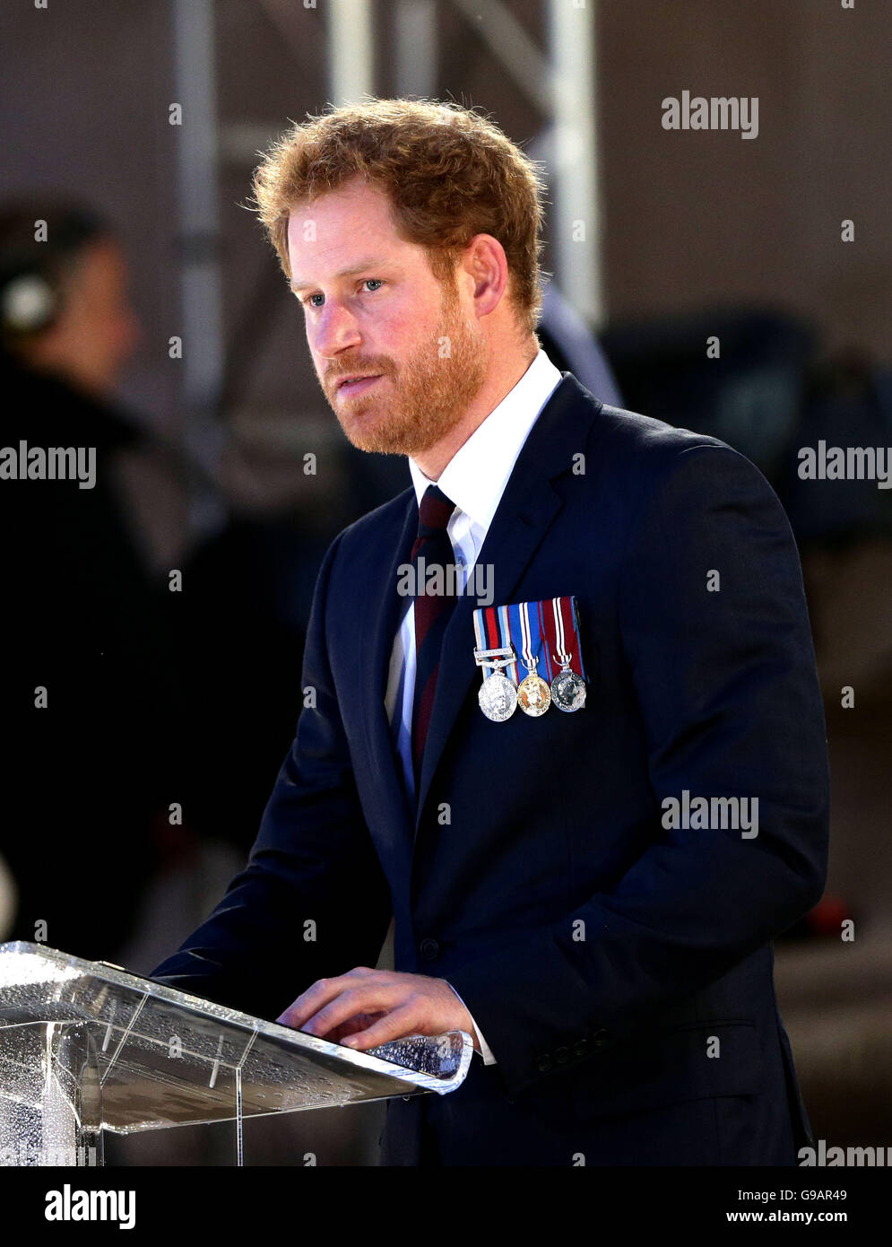 Prinz Harry gibt eine Lesung im Rahmen einer Militär-geführten ...