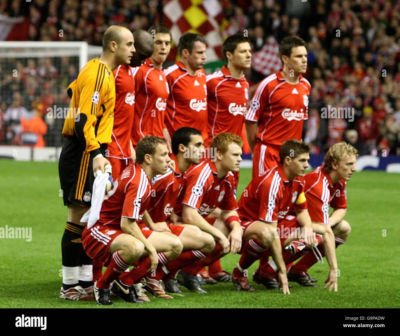Liverpool Fc 4 0 Barcelona International Champions Cup: Fc Barcelona Team Group Line Up Stockfotos & Fc Barcelona