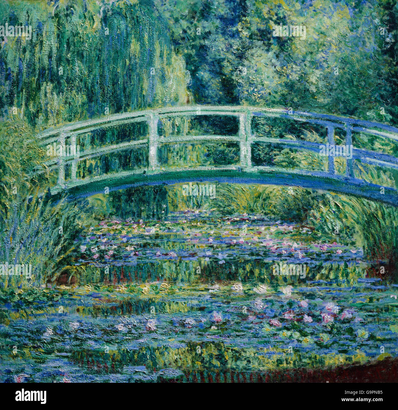 claude monet seerosen und japanische br cke stockfoto bild 109293833 alamy. Black Bedroom Furniture Sets. Home Design Ideas