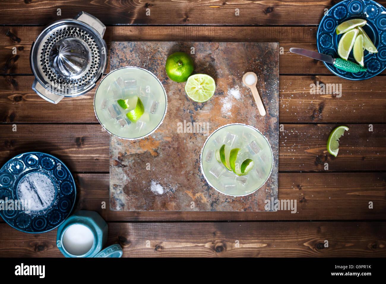Klassischen Margarita Cocktails Stockbild