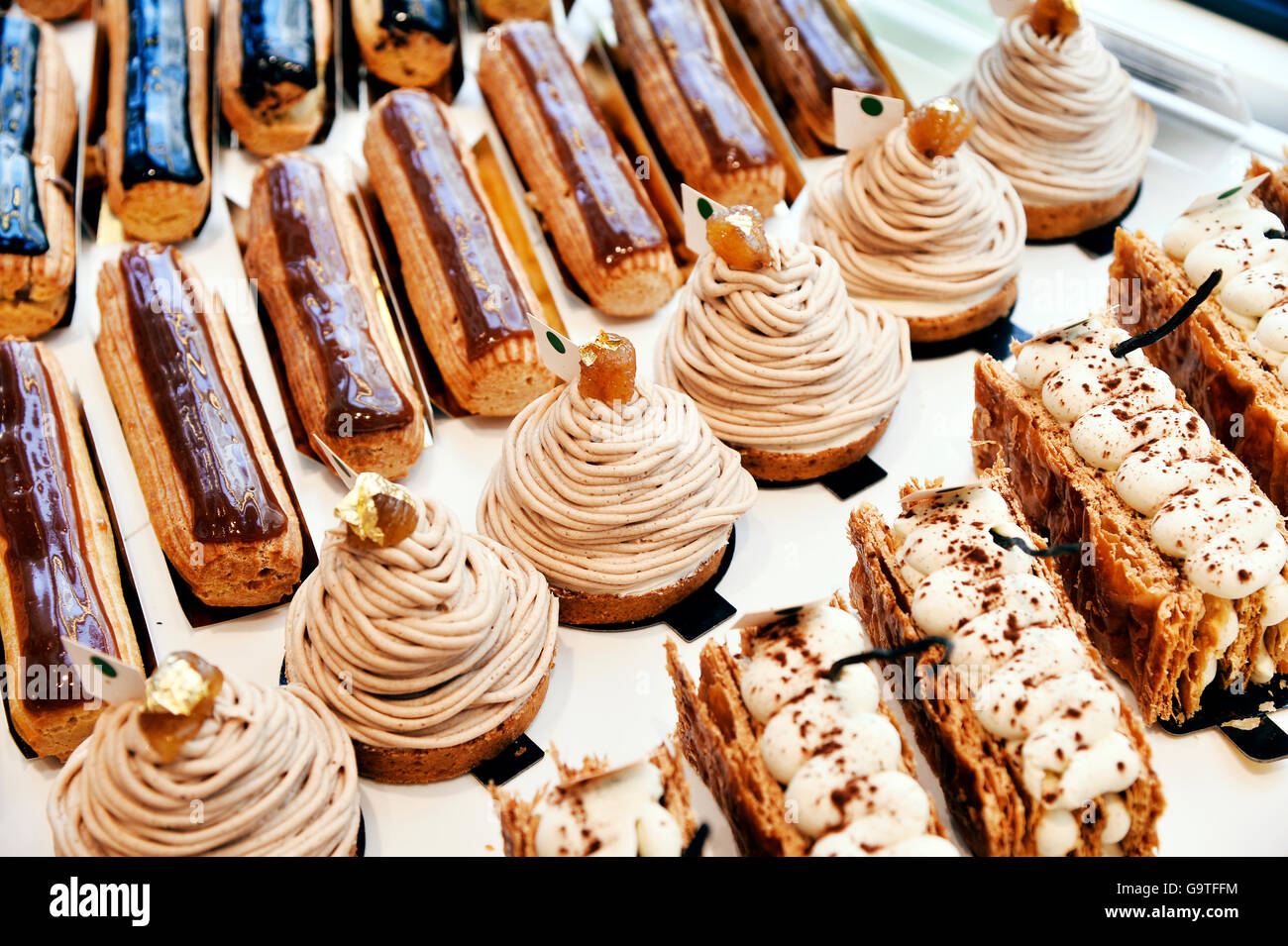 Französische Bäckerei, Paris 20., Paris Stockbild