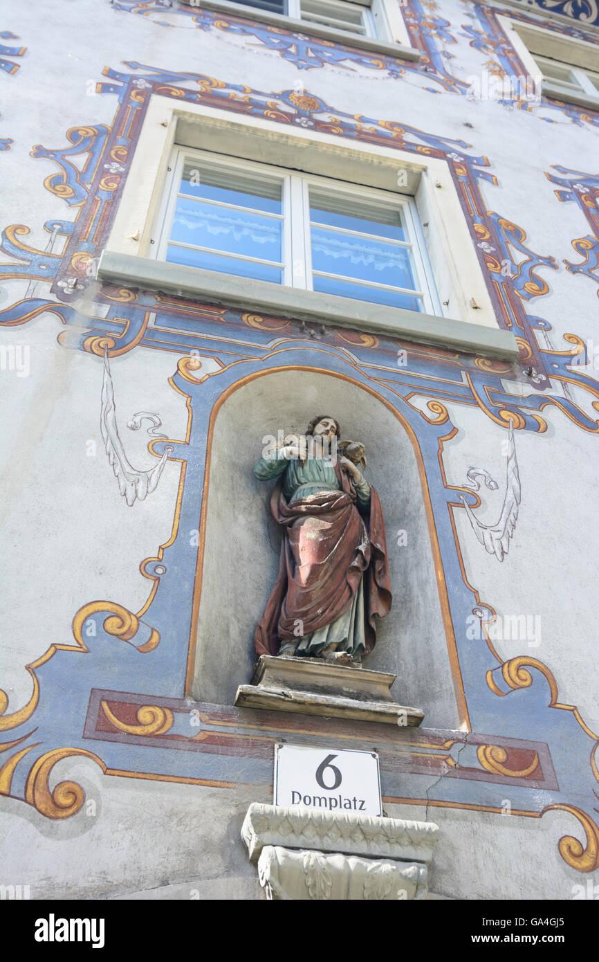 Feldkirch-Christus-Statue am Pfarrhaus bin Domplatz 6 Österreich Vorarlberg Stockbild