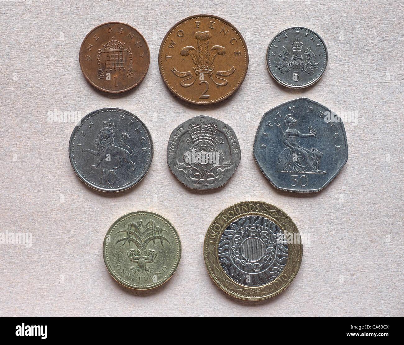 Britisches Pfund Münzen Währung Des Vereinigten Königreichs