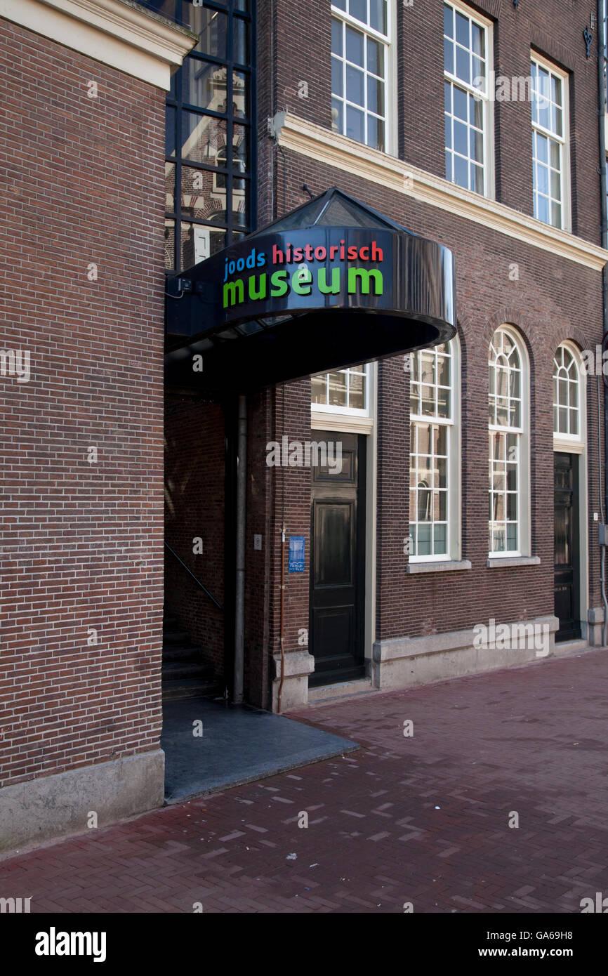 Actueel Widerstandsmuseum Museum oder jüdische Historische Museum, Amsterdam, Niederlande, Europa Stockbild