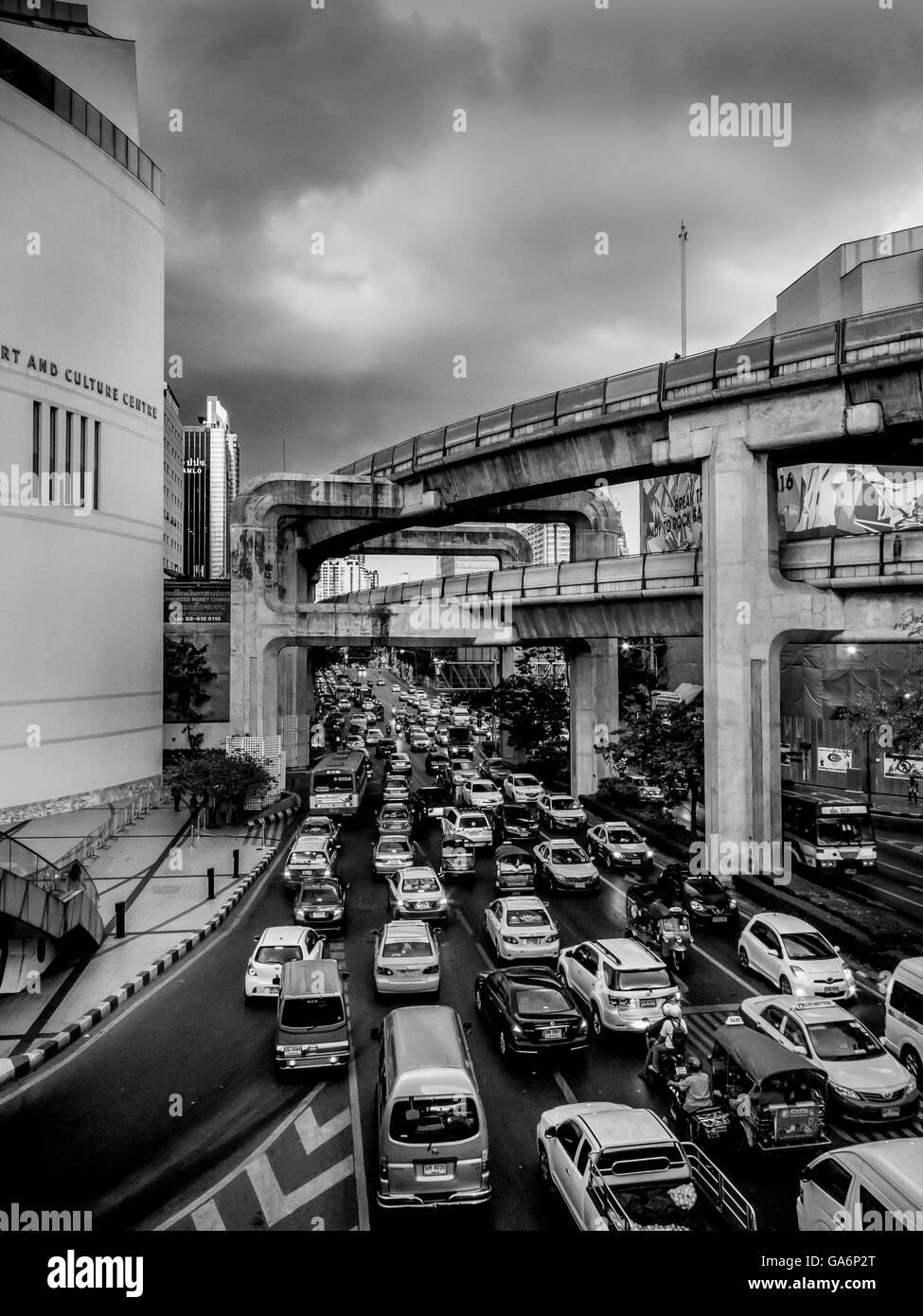 Rush Hour Traffic Bangkok thailand Stockbild