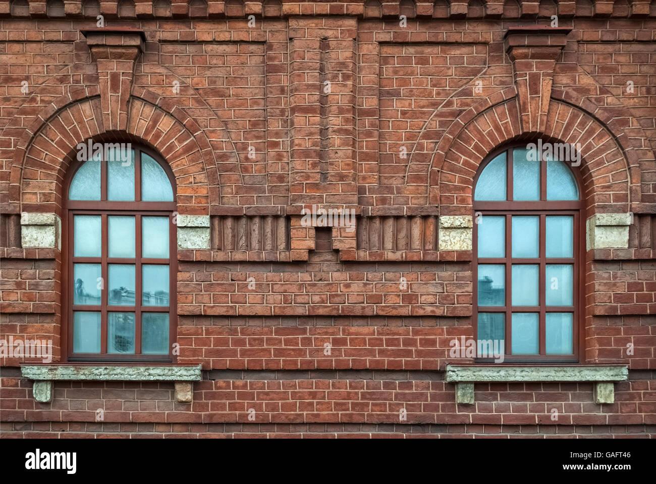 arch window brick building stockfotos arch window brick. Black Bedroom Furniture Sets. Home Design Ideas