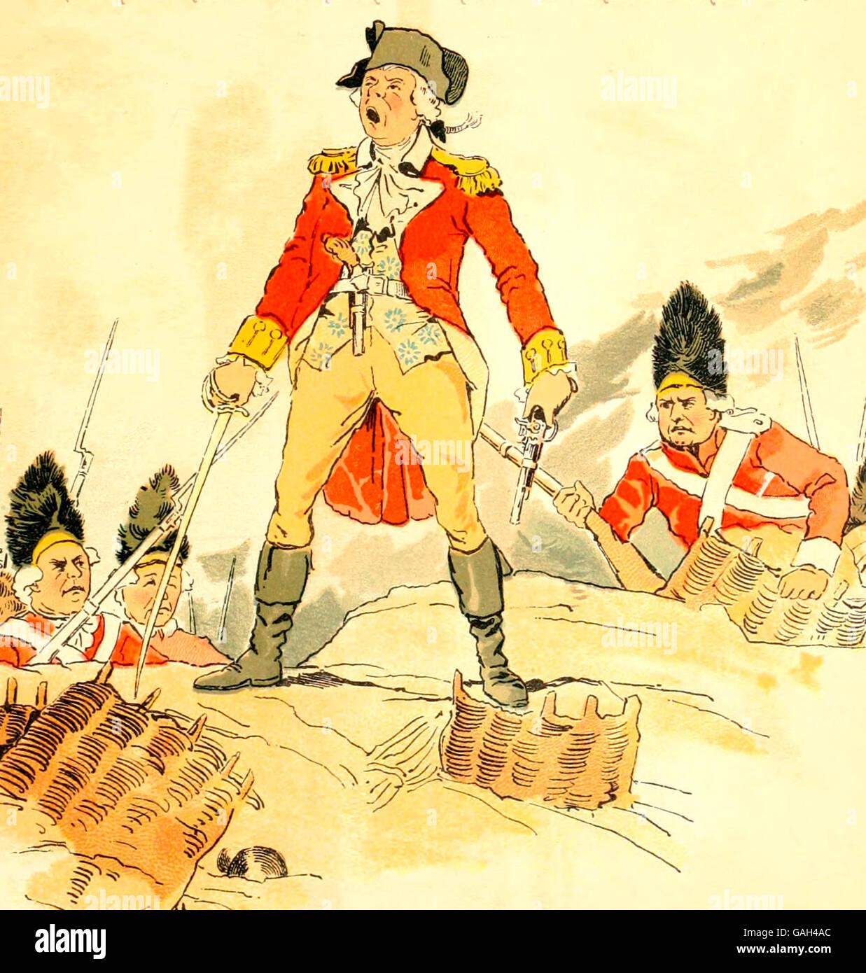 Britischen Angriff Bei Der Schlacht Von Bunker Hill Während Des