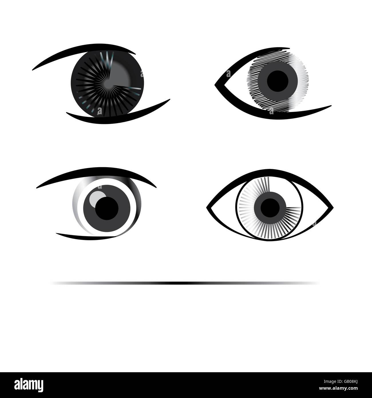 Kreativen menschlichen Augen Graustufen Stockbild