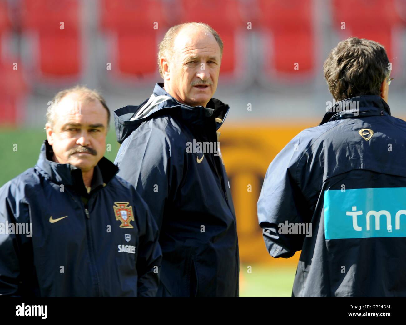 Fußball - UEFA European Championship 2008 - Gruppe A - Portugal-Pressekonferenz und Training - Stade La Maladiere Stockbild