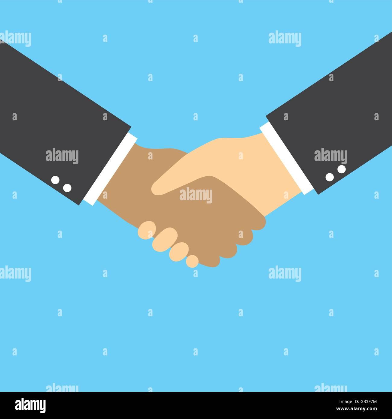 Business Handshake Vektor Grafik-Design für Kooperation ...