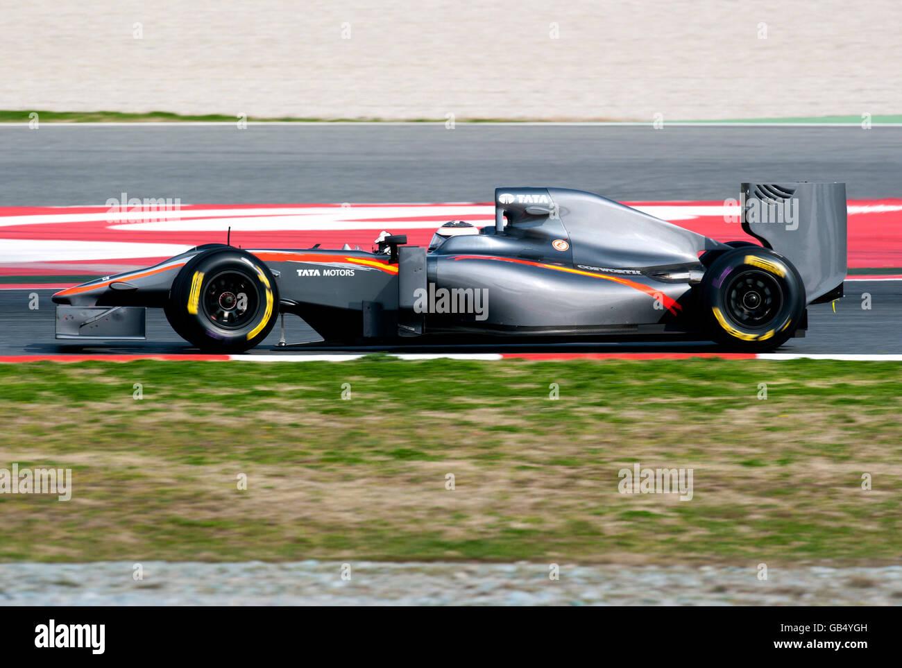 Schweizer Testfahrer Giorgio Mondini In Seinem Hrt F1 Team Cosworth
