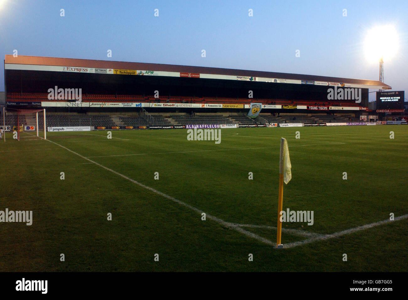 Fußball - UEFA-Pokal - erste Runde - Rückspiel - Neuchatel Xamax V Auxerre Stockbild