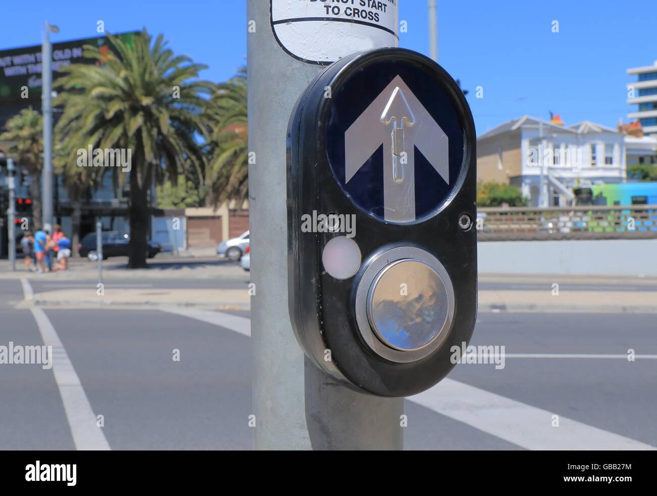 Fußgängerüberweg Summer in Australien Stockbild