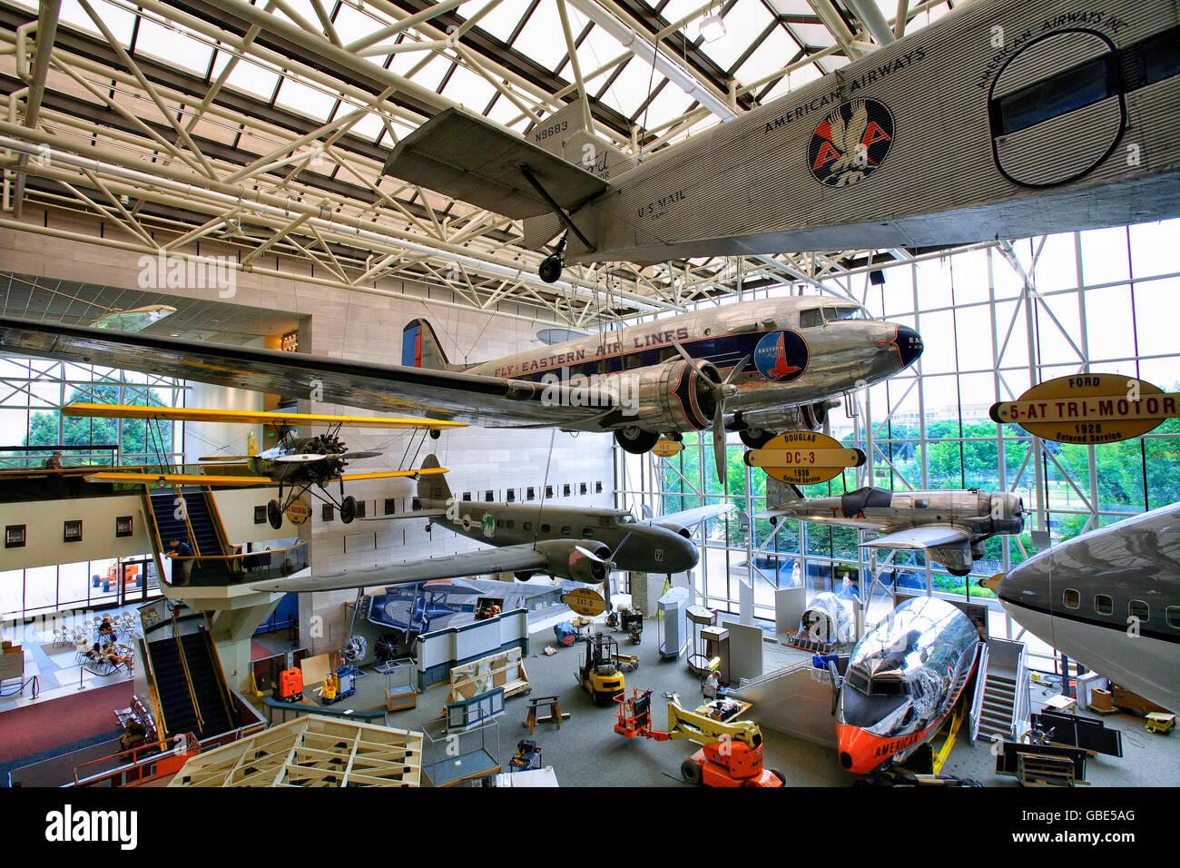 Air Space Museum Washington Dc Stockfotos Air Space Museum