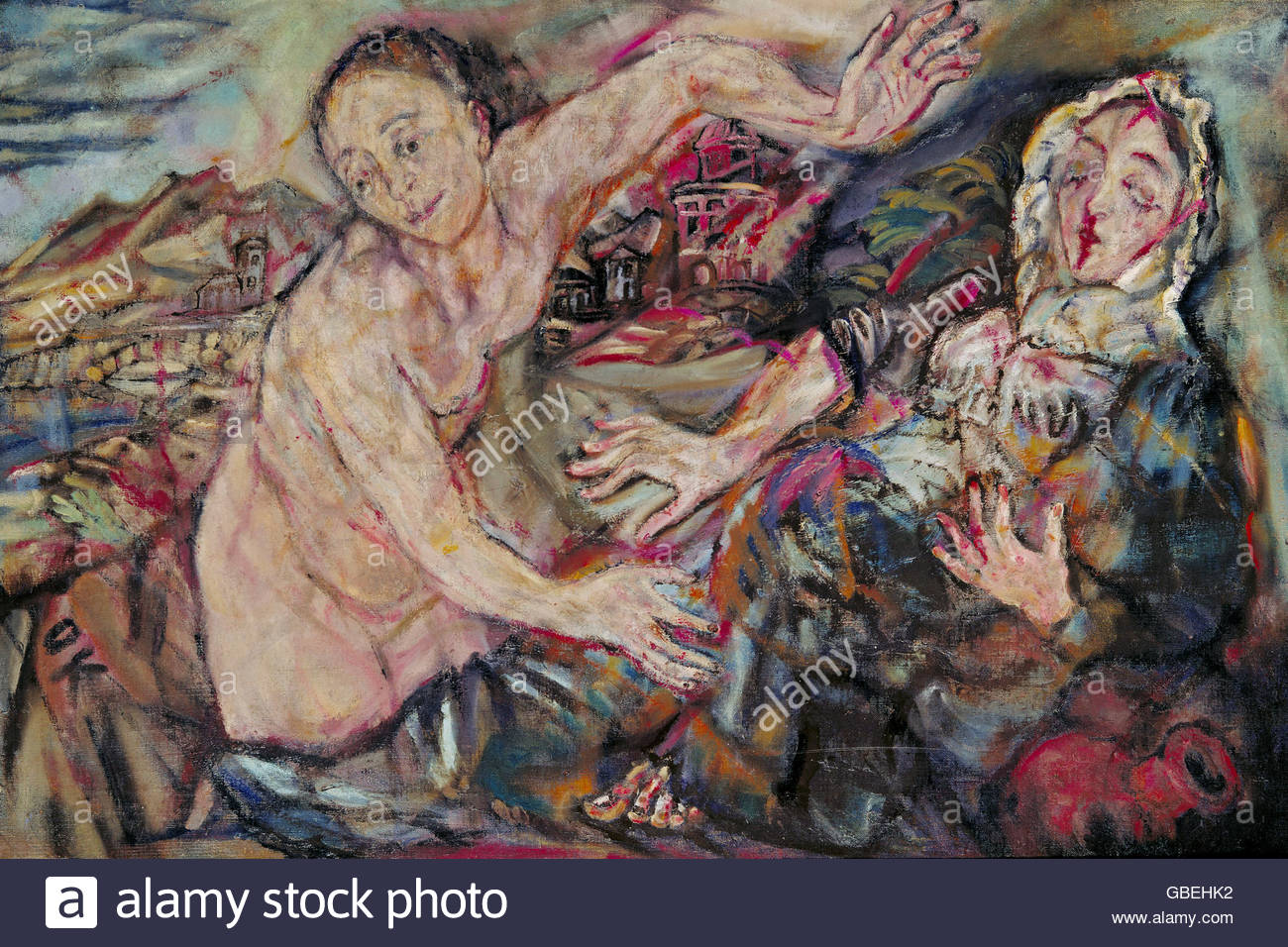 Künstler Dortmund bildende kunst kokoschka oskar 1886 1980 malerei verkündigung