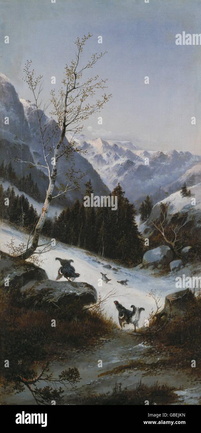 Romantik malerei historischer hintergrund