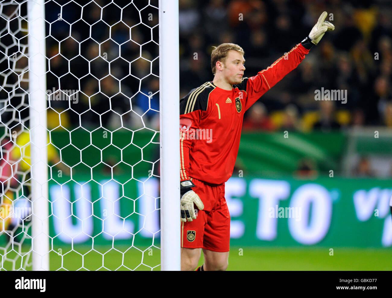 Torwart Manuel Neuer, internationalen Fußballspiel, Deutschland - Italien 1:1, Signal Iduna Park, Dortmund, Nordrhein Stockfoto