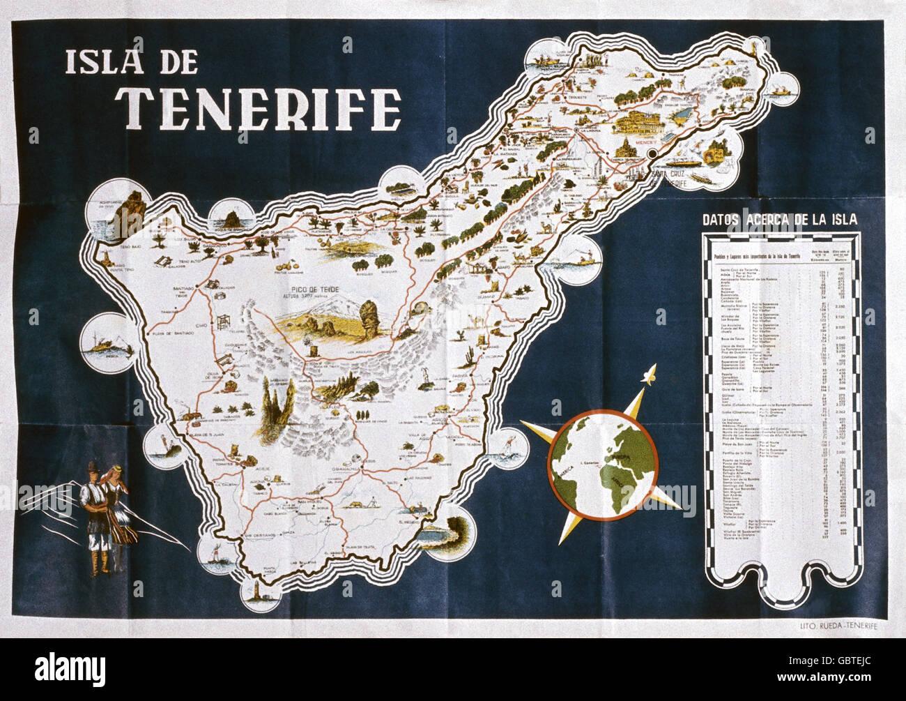 Geographie Reisen Spanien Kanarische Inseln Teneriffa