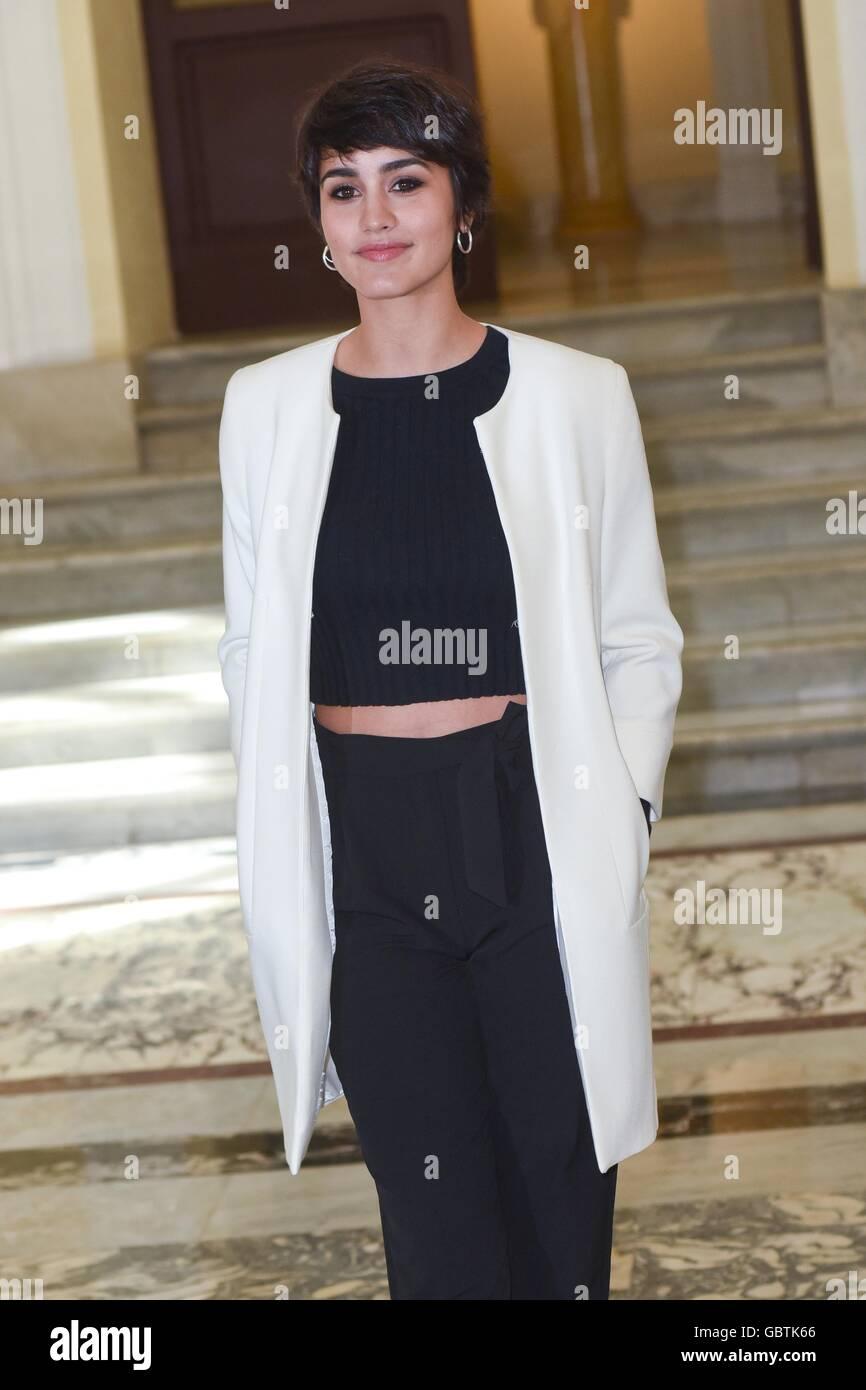 Megan Montaner, spanische Schauspielerin, Rom, Italien, 29. März 2016 Kredit © Fabio Mazzarella/Sintesi/Alamy Stock Stockfoto